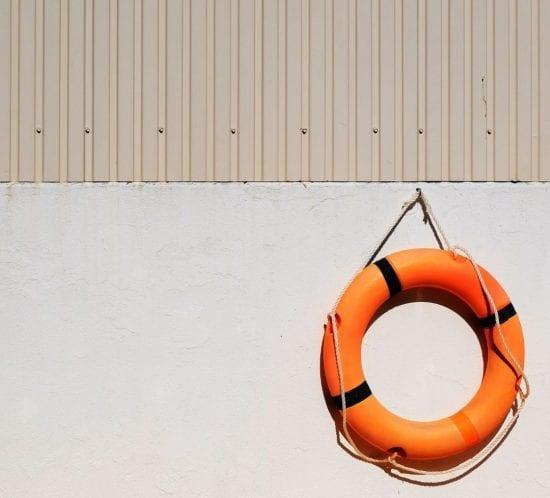 Life Buoy on wall