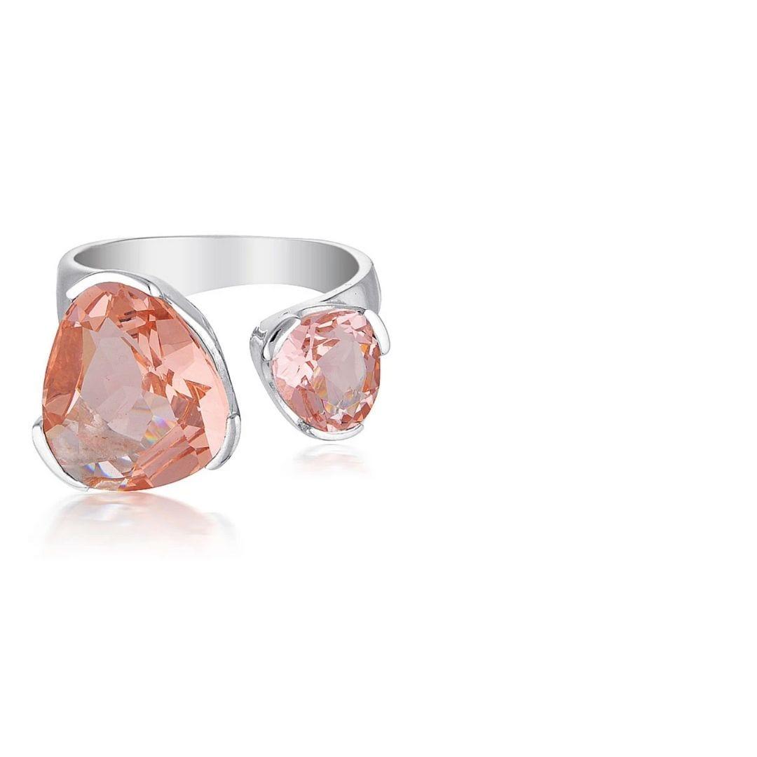 Uber Kate Everyday Gemstone ring blush quartz