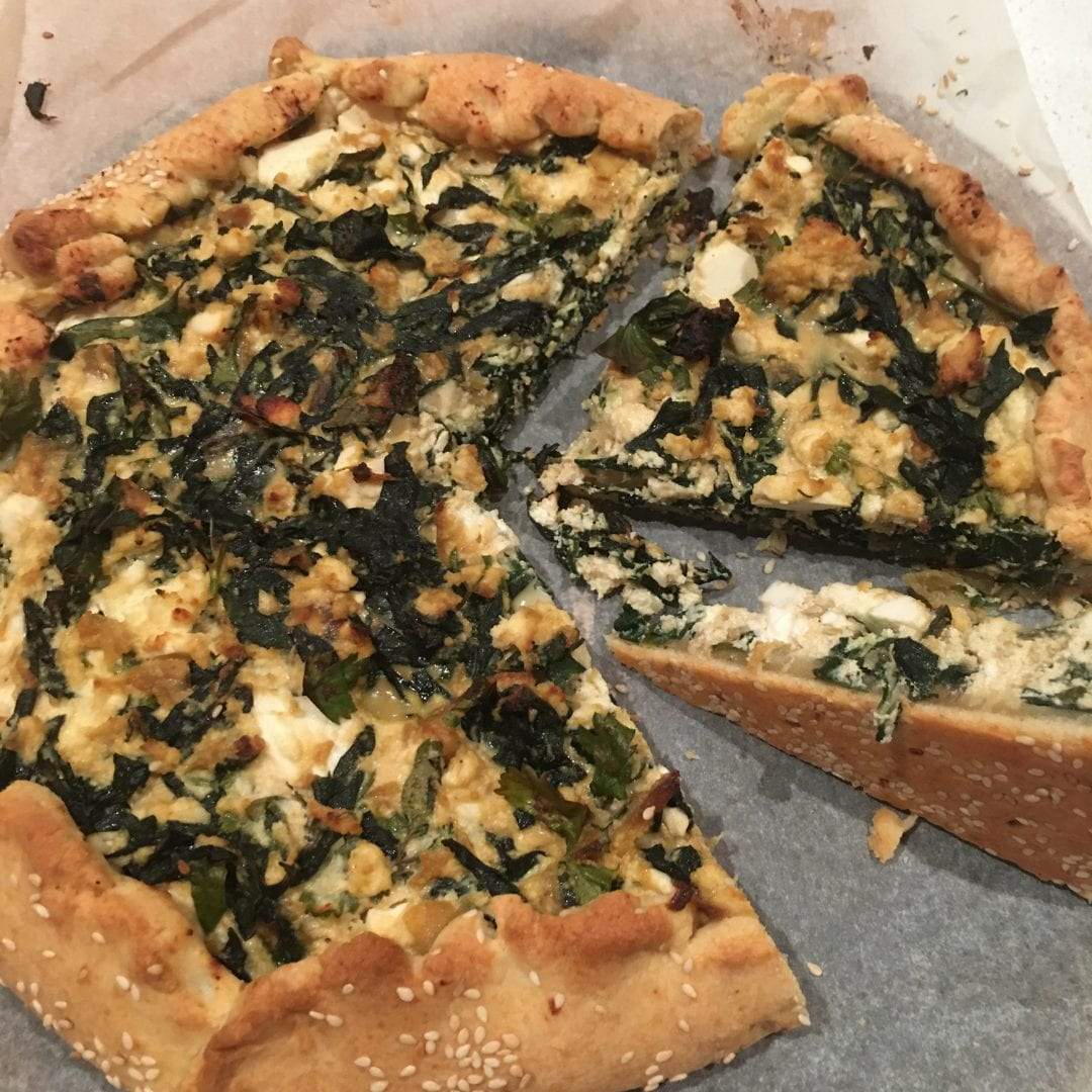 Janelle's silverbeet, ricotta and fetta pie
