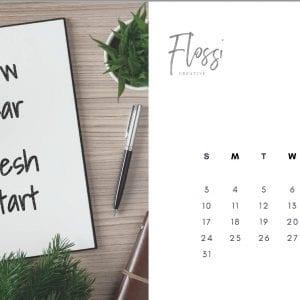 2021 Flossi Creative Inspirational Calendar